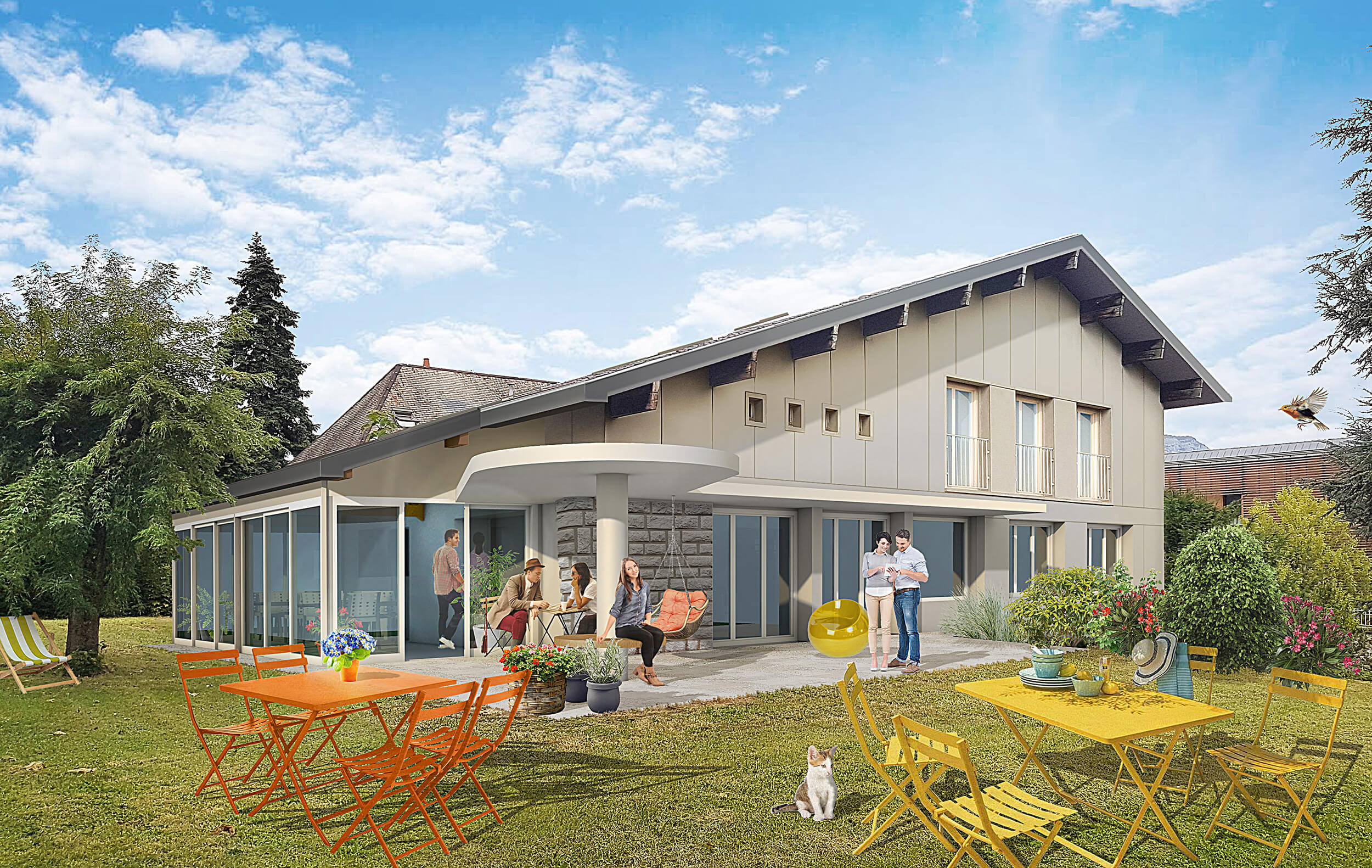 HOME – 1_En tête – Transformation d'une villa en Maison des Parents à Chambéry